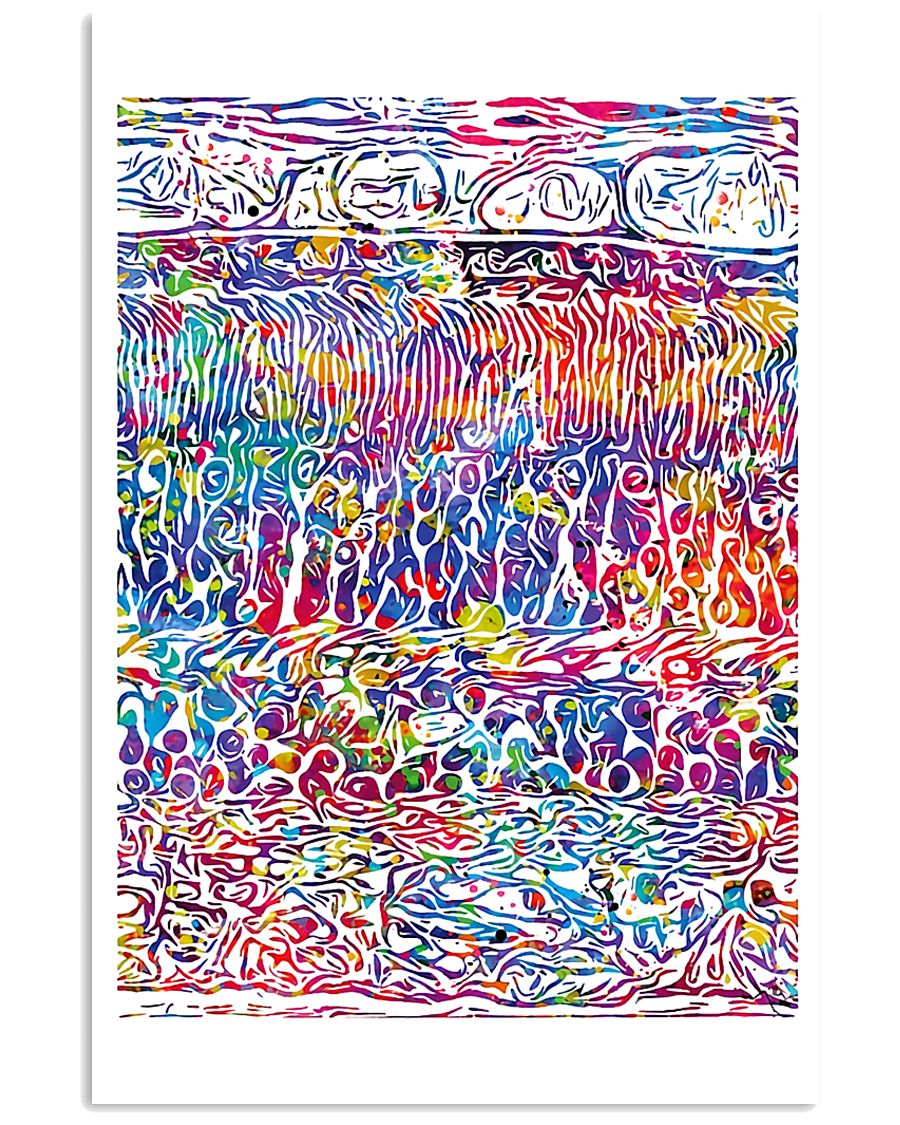 Optometrist Retina Layers Watercolor Human Eye 24x36 Poster