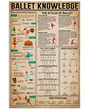 Ballet Knowledge 16x24 Poster front