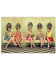 Hairdresser Vintage Ladies Doing Hair 17x11 Poster front