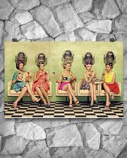 Hairdresser Vintage Ladies Doing Hair 17x11 Poster poster-landscape-17x11-lifestyle-13