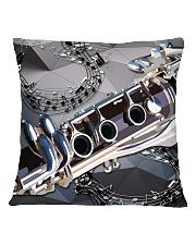 Clarinet Drawing  Square Pillowcase back