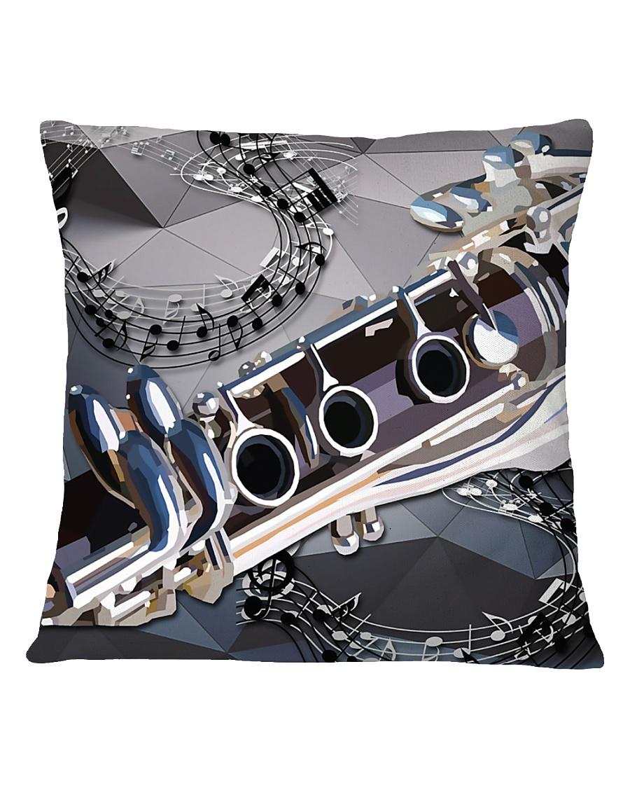 Clarinet Drawing  Square Pillowcase