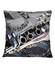 Clarinet Drawing  Square Pillowcase front