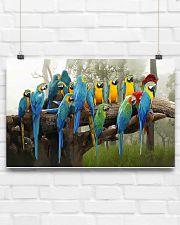 Blue Parrots 17x11 Poster poster-landscape-17x11-lifestyle-17