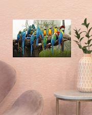 Blue Parrots 17x11 Poster poster-landscape-17x11-lifestyle-22