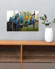 Blue Parrots 17x11 Poster poster-landscape-17x11-lifestyle-24