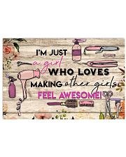 Hairdresser Love Making Other Girls Feel Awesome 17x11 Poster front