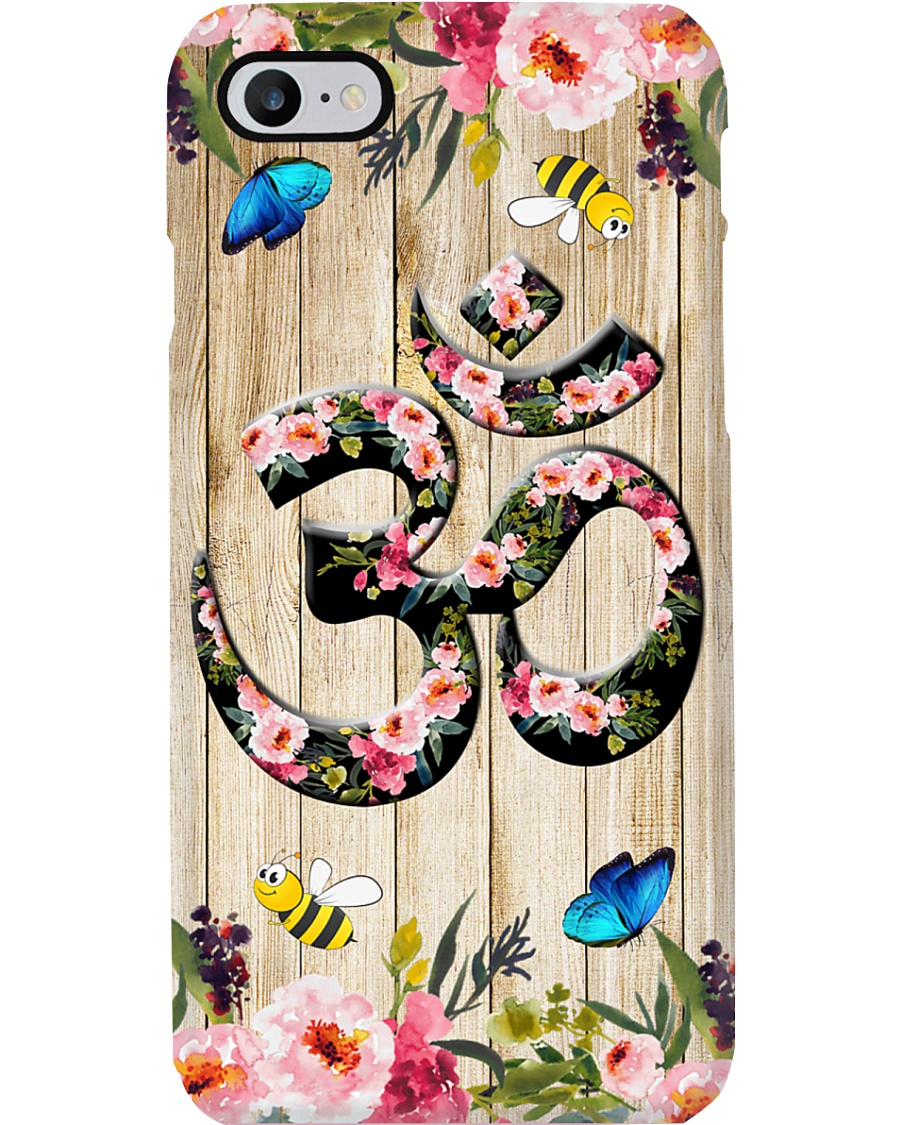 Yoga Floral Wood Om Meditation Phone Case