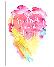 Social Work Is A Work Of Heart Colors Art 11x17 Poster front