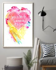 Social Work Is A Work Of Heart Colors Art 11x17 Poster lifestyle-poster-1