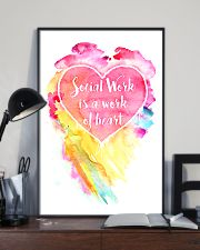 Social Work Is A Work Of Heart Colors Art 11x17 Poster lifestyle-poster-2