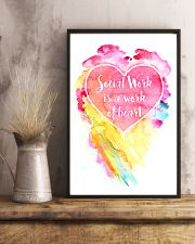 Social Work Is A Work Of Heart Colors Art 11x17 Poster lifestyle-poster-3