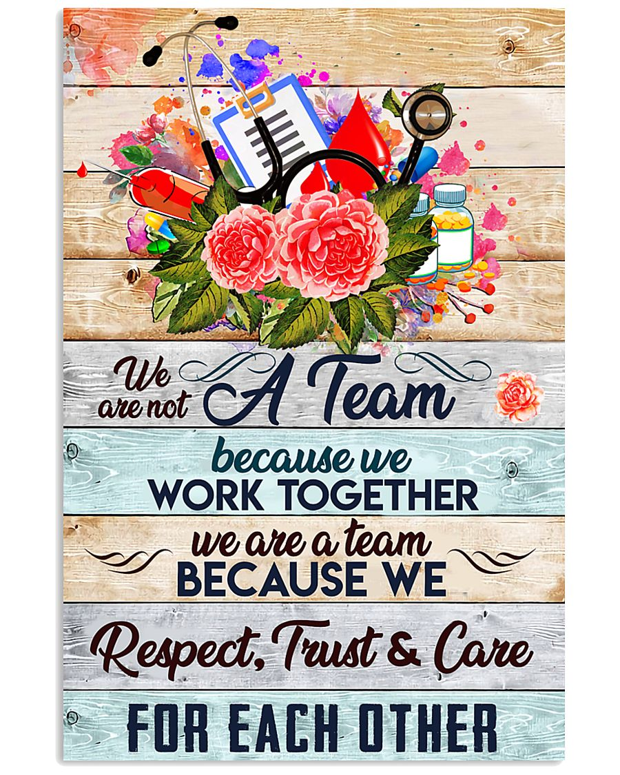 Phlebotomist We are a team 11x17 Poster