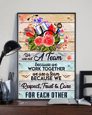 Phlebotomist We are a team 11x17 Poster lifestyle-poster-2