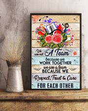 Phlebotomist We are a team 11x17 Poster lifestyle-poster-3