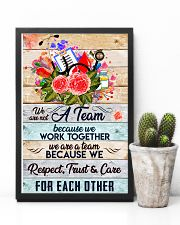 Phlebotomist We are a team 11x17 Poster lifestyle-poster-8