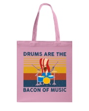 Drummer- Drums Are The Bacon Of Music Tote Bag thumbnail