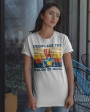 Drummer- Drums Are The Bacon Of Music Classic T-Shirt apparel-classic-tshirt-lifestyle-08