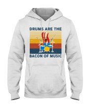 Drummer- Drums Are The Bacon Of Music Hooded Sweatshirt thumbnail