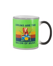 Drummer- Drums Are The Bacon Of Music Color Changing Mug thumbnail