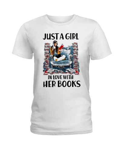 A girl in love with books