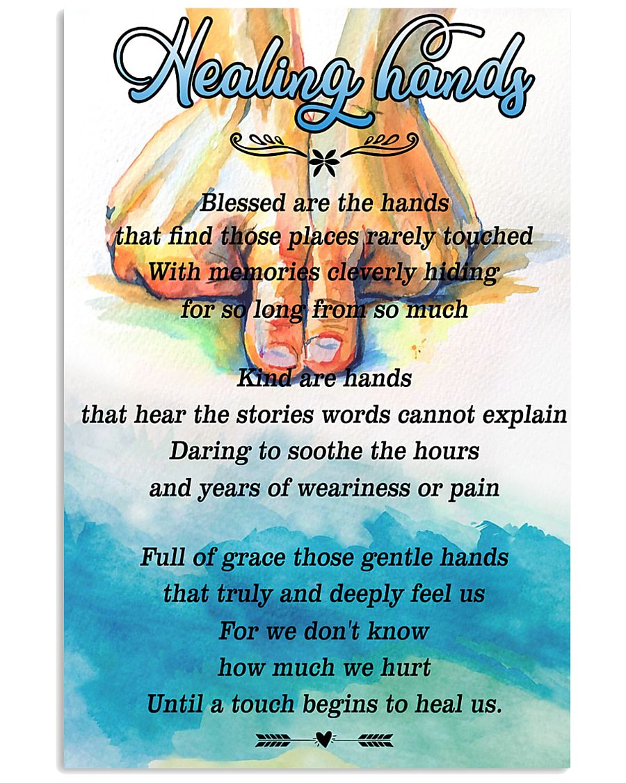 Massage Therapist Healing Hands 24x36 Poster