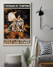 Sewing More Dogs And Fabric 11x17 Poster lifestyle-poster-1