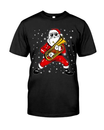 Tubist Santa playing Tuba