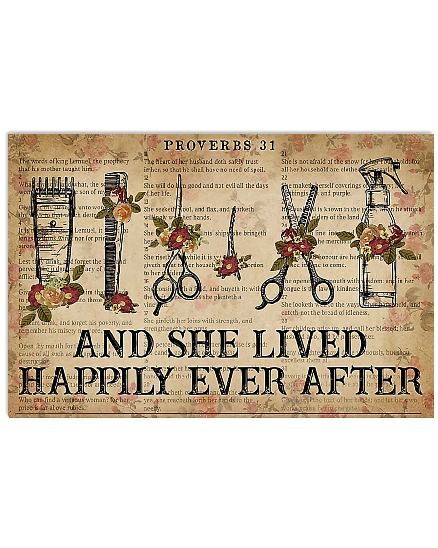 Hairstylist She Lived Happily Ever After 17x11 Poster