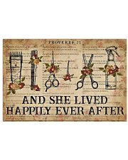 Hairstylist She Lived Happily Ever After 17x11 Poster front