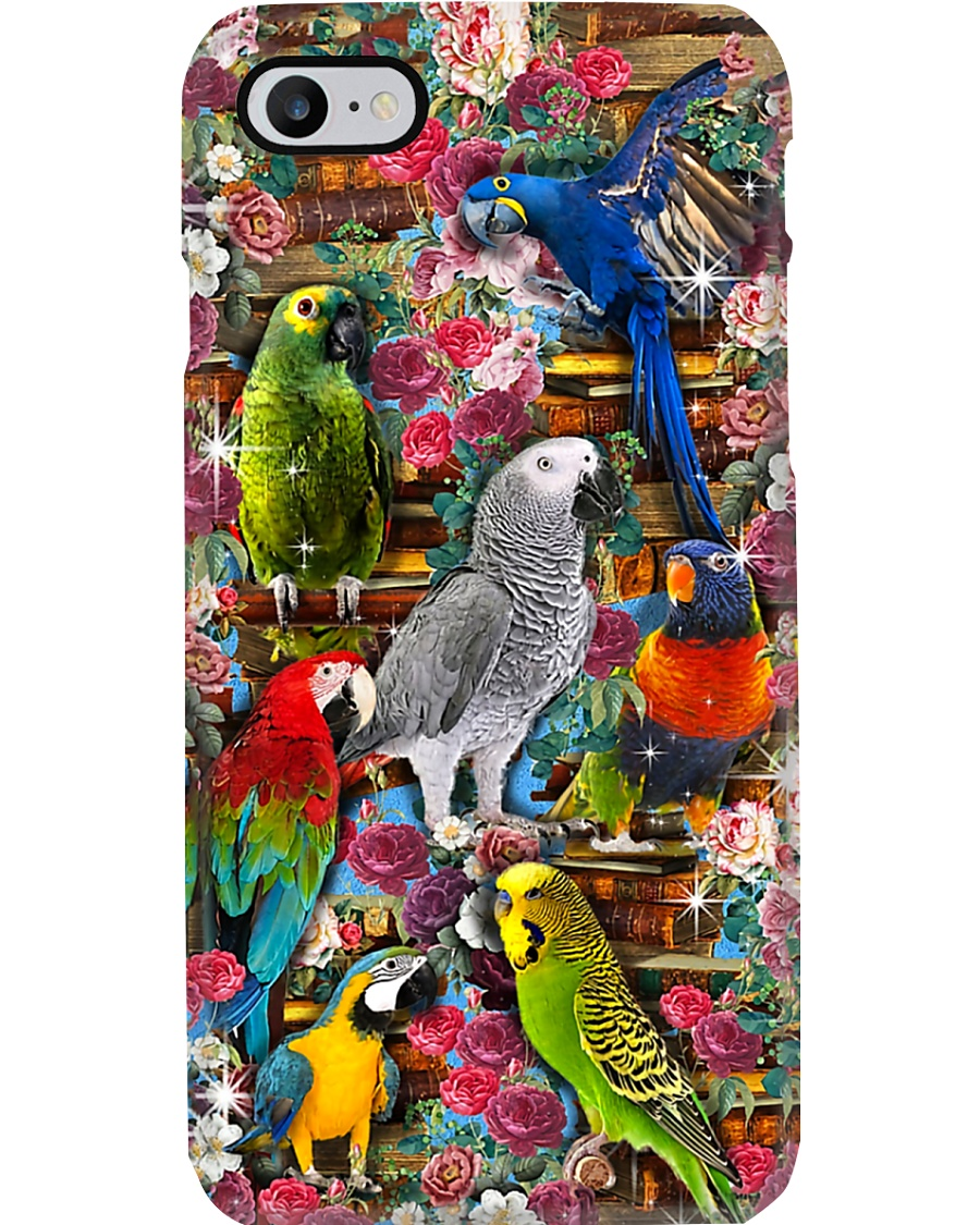 Parrots and Books Phone case Phone Case