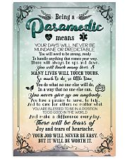 Being a paramedic means 11x17 Poster front