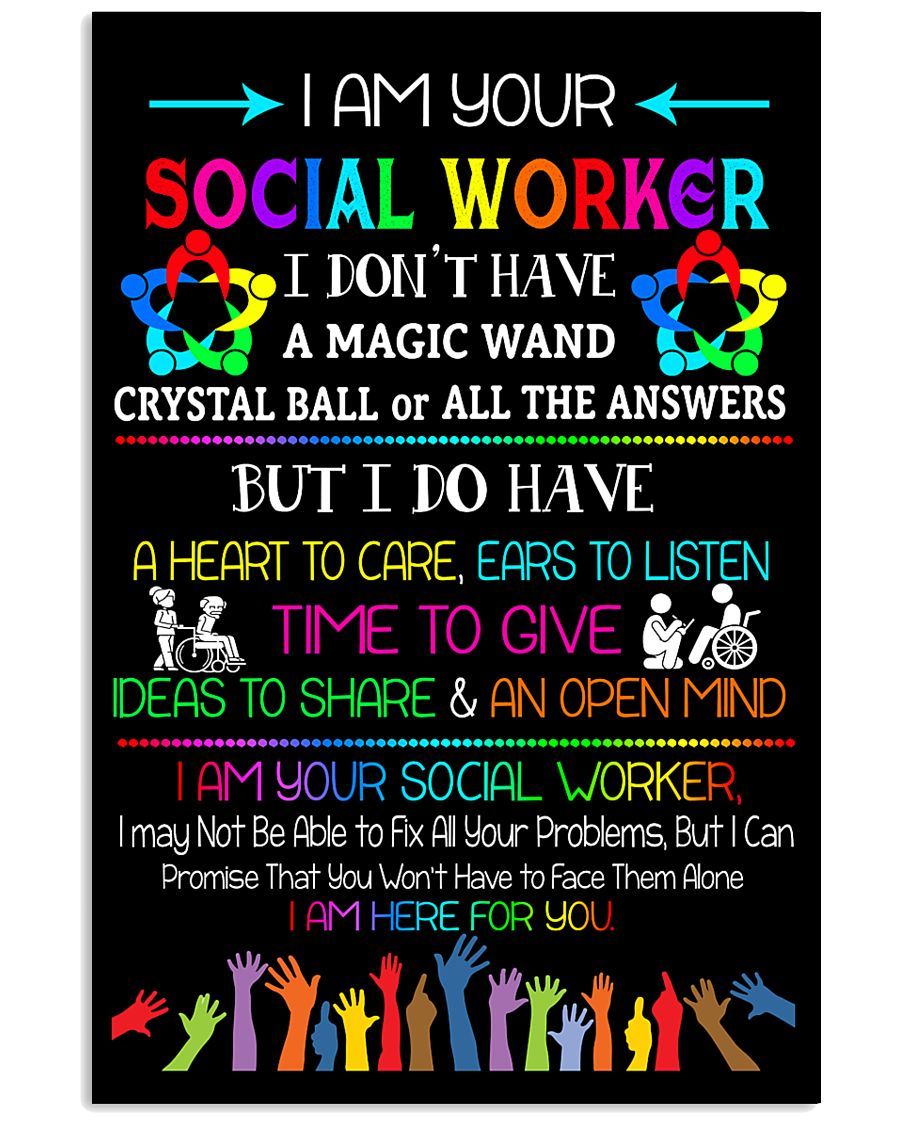 Social Worker I am here for you Poster  11x17 Poster