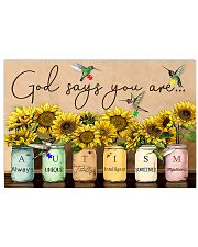 Autism Awareness God Says You Are  17x11 Poster front