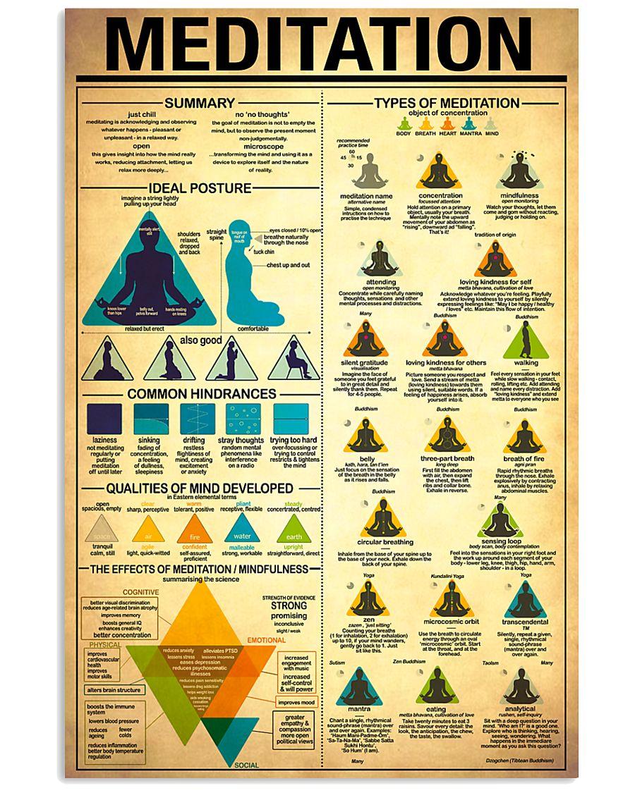 Yoga Meditation 11x17 Poster
