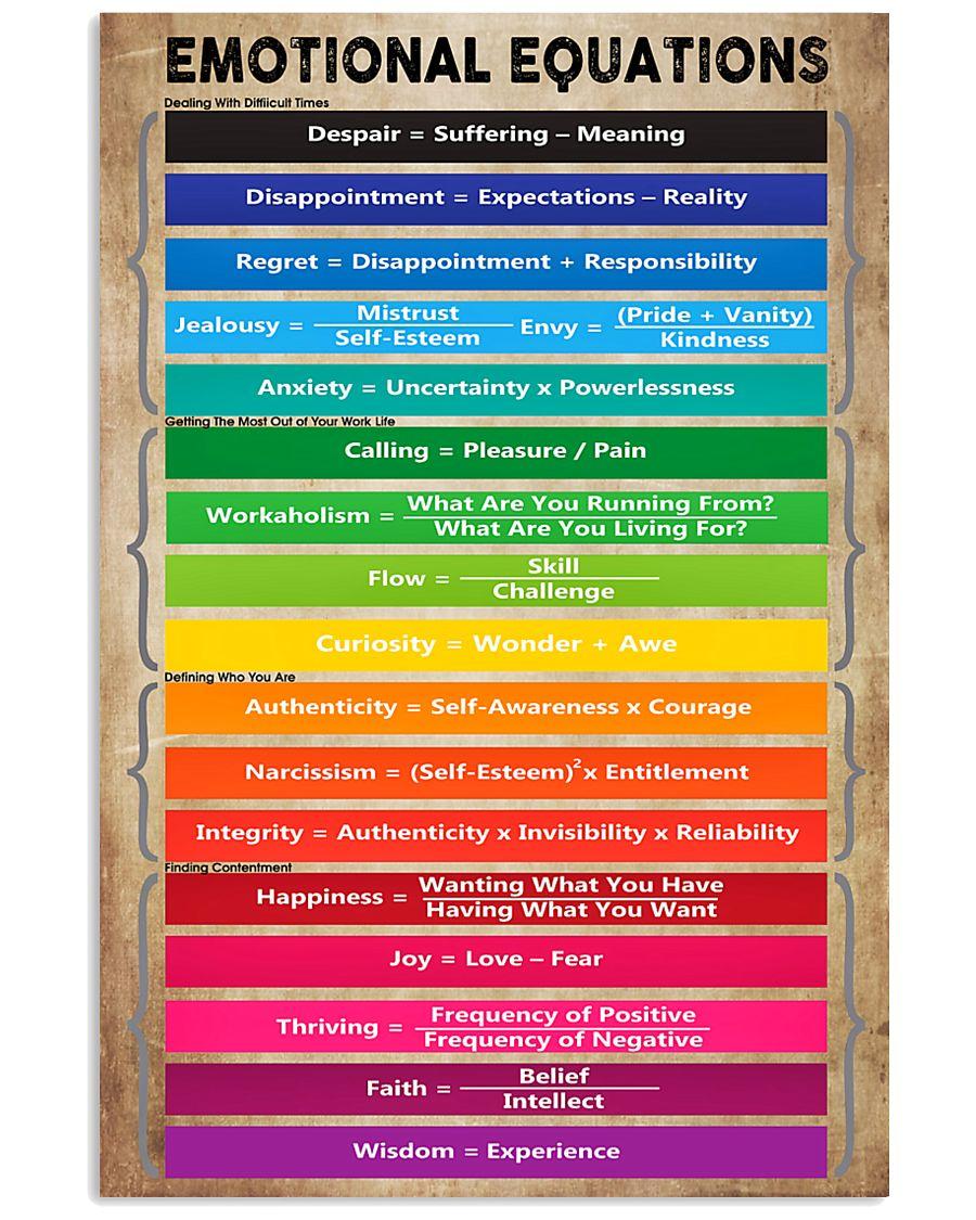 Emotional Equations Teacher 11x17 Poster