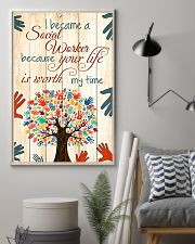 Social Worker Because Your Life Is Worth My Time 11x17 Poster lifestyle-poster-1