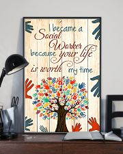 Social Worker Because Your Life Is Worth My Time 11x17 Poster lifestyle-poster-2