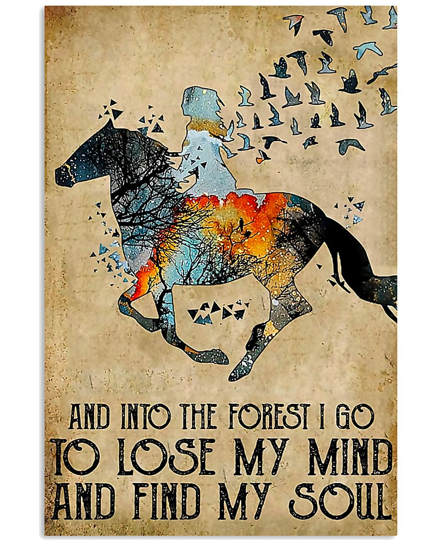 Horse Girl Into The Forest I Go To Find My Soul 11x17 Poster
