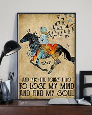 Horse Girl Into The Forest I Go To Find My Soul 11x17 Poster lifestyle-poster-2