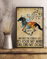 Horse Girl Into The Forest I Go To Find My Soul 11x17 Poster lifestyle-poster-3