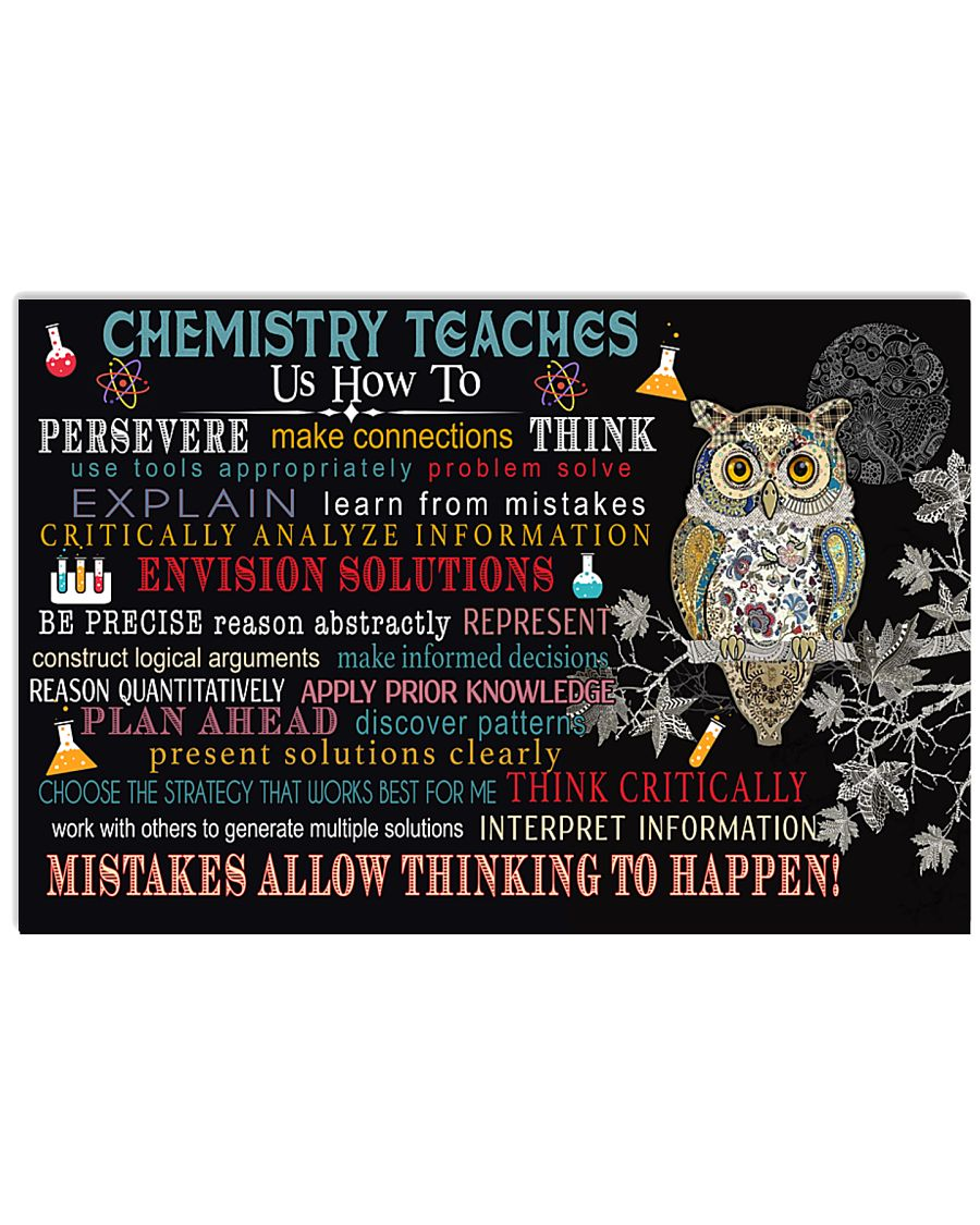 Chemistry teaches us  17x11 Poster