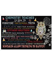 Chemistry teaches us  17x11 Poster front