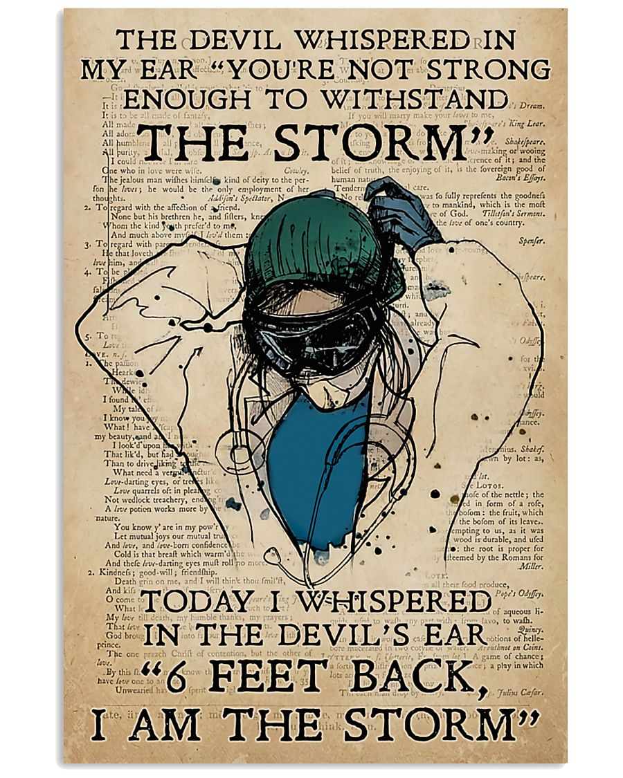 Respiratory Therapist I am the storm 11x17 Poster