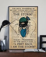 Respiratory Therapist I am the storm 11x17 Poster lifestyle-poster-2