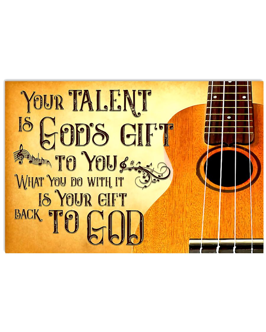 Ukulele Your Talent 17x11 Poster