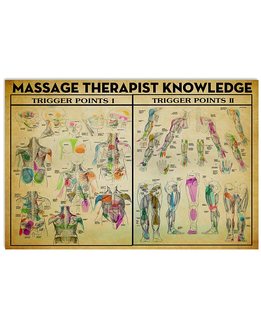 Massage Therapist Trigger Point 17x11 Poster