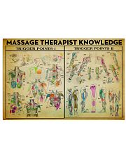 Massage Therapist Trigger Point 17x11 Poster front