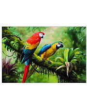 Two Colorful Parrots In Tropical Forest 17x11 Poster front