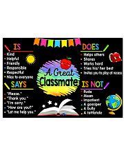 Teacher A Great Classmate 17x11 Poster front